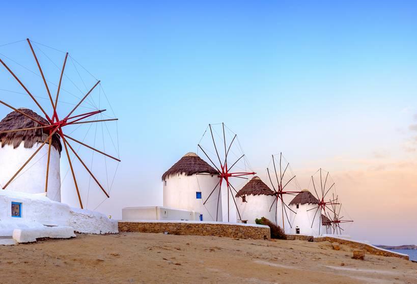 The Windmills of Mykonos Town
